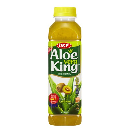 OKF Aloe Vera King Drink, Kiwi, 16.9 Fl Oz (Case of