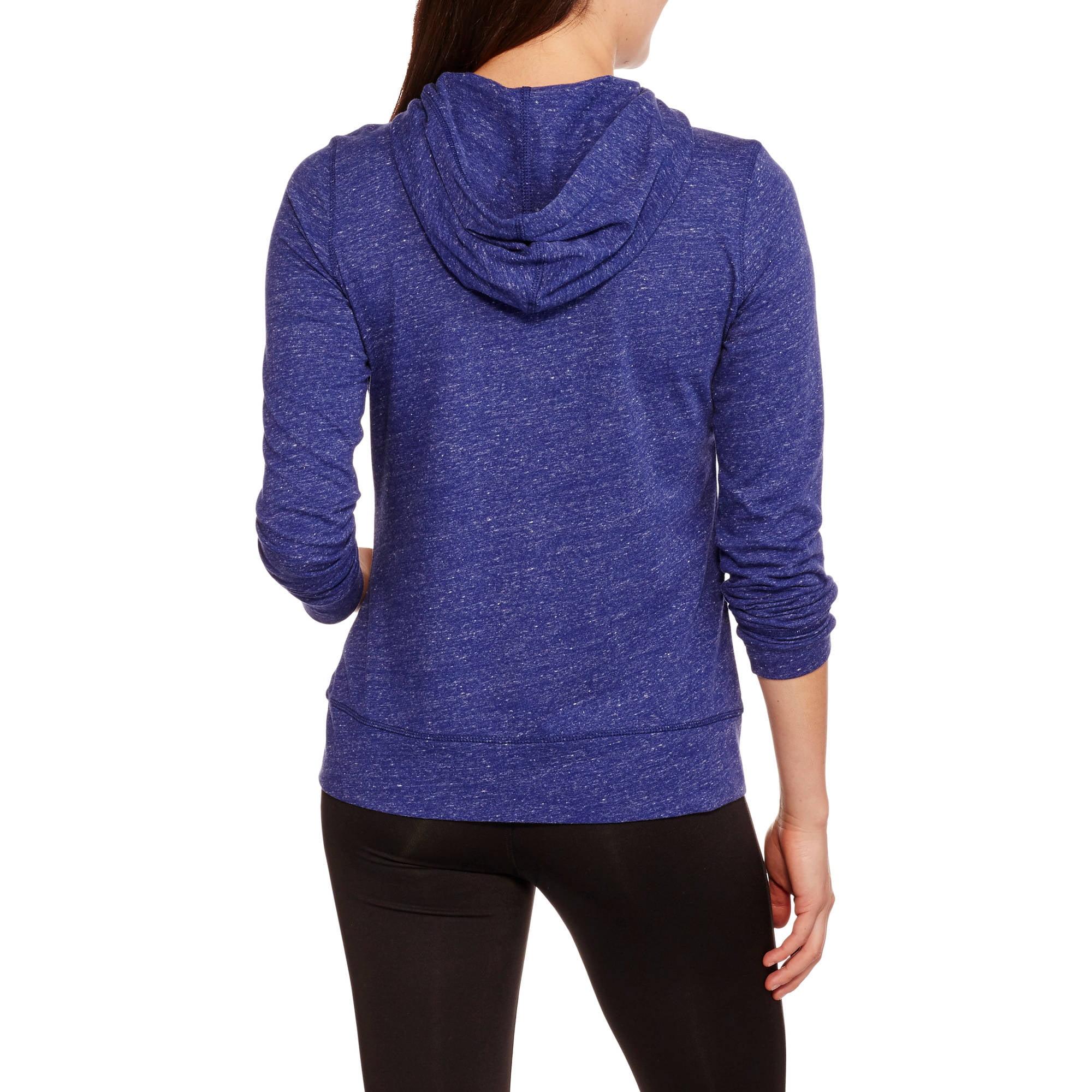 59927039ac1bb Danskin Now - Women s Full Zip Vintage Hoodie - Walmart.com
