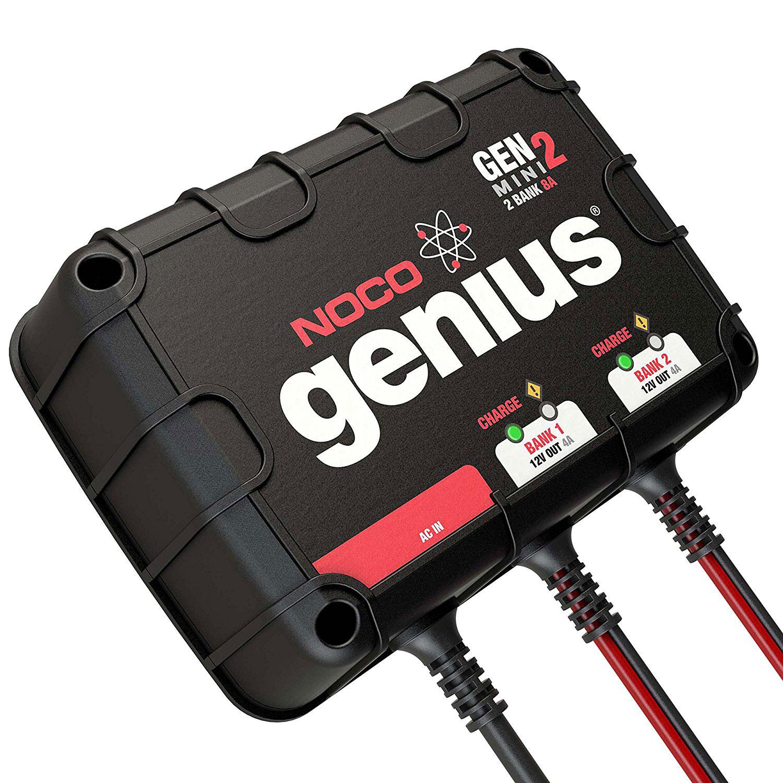 Noco Genius GENM2 2 Bank 8 Amp Waterproof On Board Battery Charger Jump Starter