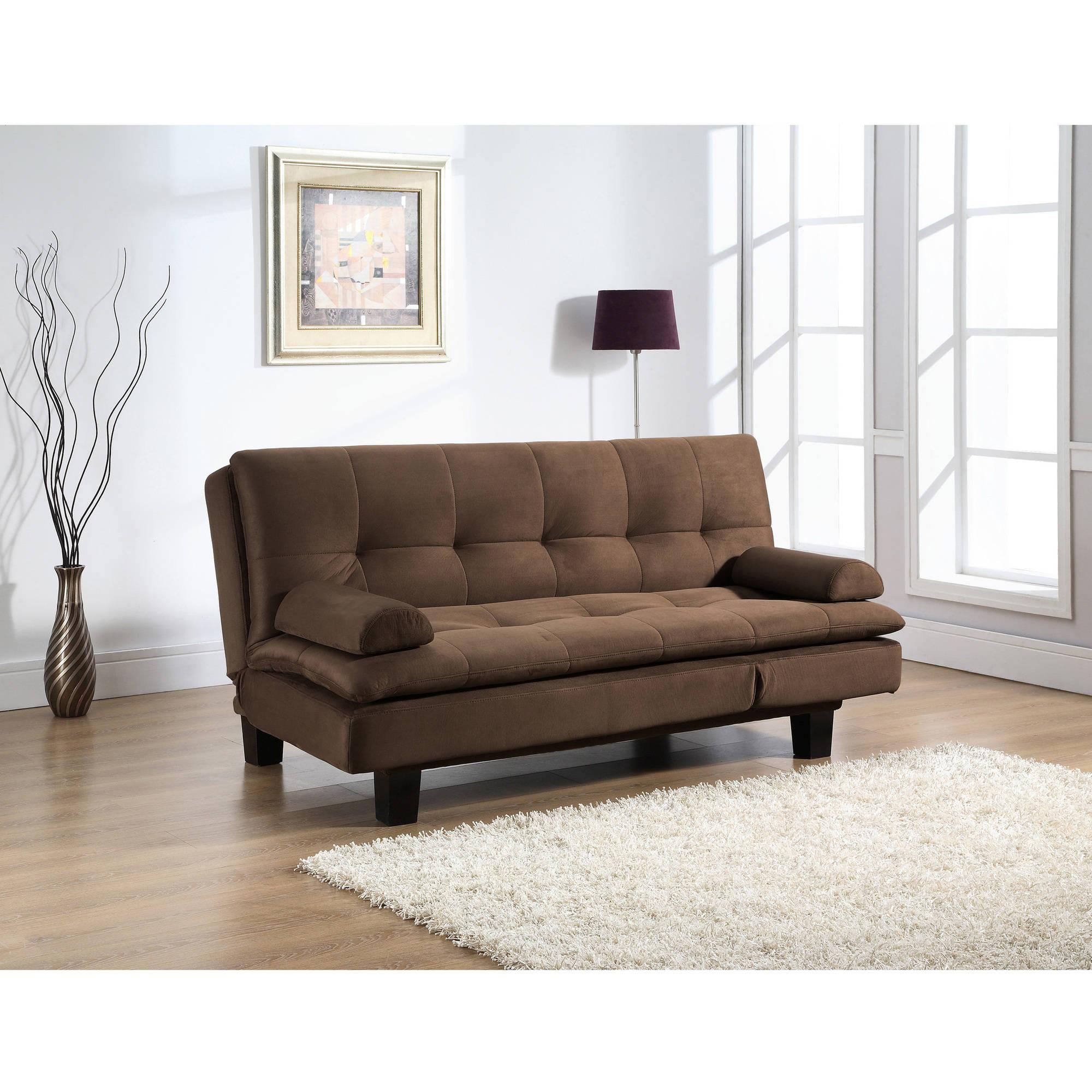 Serta Ainsley Convertible Sofa in Brown Fabric