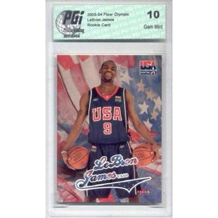 2003-04 LeBron James Fleer Team Usa Rookie Card PGI 10 Lakers (Team Usa Shop Com)