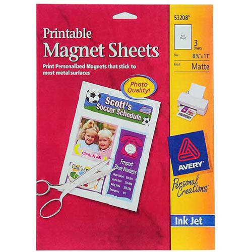 Avery Magnet Sheets, 3pk