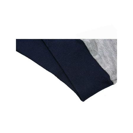 Allegra K Bloc Couleur Hommes Col Ras Du Cou Pull-over Manches Longues Garnitures Nervuré T-shirt - image 4 de 7