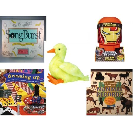 Children's Gift Bundle [5 Piece] -  Songburst 50's and 60's Edition  - Bonkazonks Marvel Iron Man Headquarters - Ty Buddies Classic Quackie 11