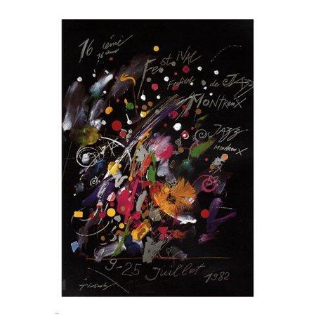 Jazz Festival Poster Card (1982 Jazz Festival Montreux Poster Modern Art 24X36)