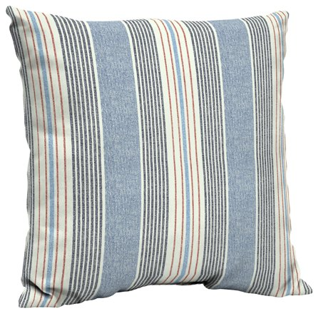 Better Homes & Gardens Hickory Stripe 21 x 21 in. Outdoor Dining Pillow Back Cushion with EnviroGuard ()
