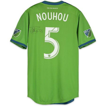 buy online 9d57e bec5c Nouhou Tolo Seattle Sounders FC Autographed Match-Used Green #5 Jersey vs.  San Jose Earthquakes on October 28, 2018 - Fanatics Authentic Certified