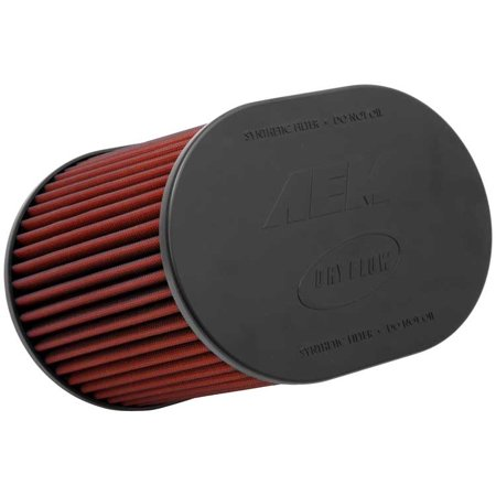 AEM 21-2259DK Universal DryFlow Clamp-On Air Filter: Oval Tapered; 4 in (102 mm) Flange ID; 9 in (229 mm) Height; 10.5 in x 8 in (267 mm x 203 mm) -