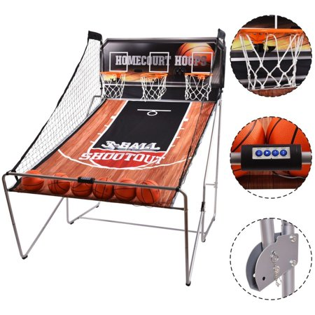 Sweet Basketball Shots (Costway Indoor Basketball Arcade Game Sport Electronic Hoops Shot 3 Player Christmas Kid)