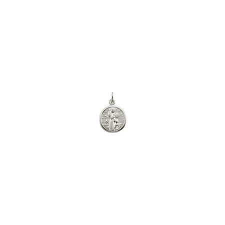 Jewelria Collection (Bella Grace Jewelry Collection Sterling Silver 10.15x12mm St. Francis of Assisi Medal)