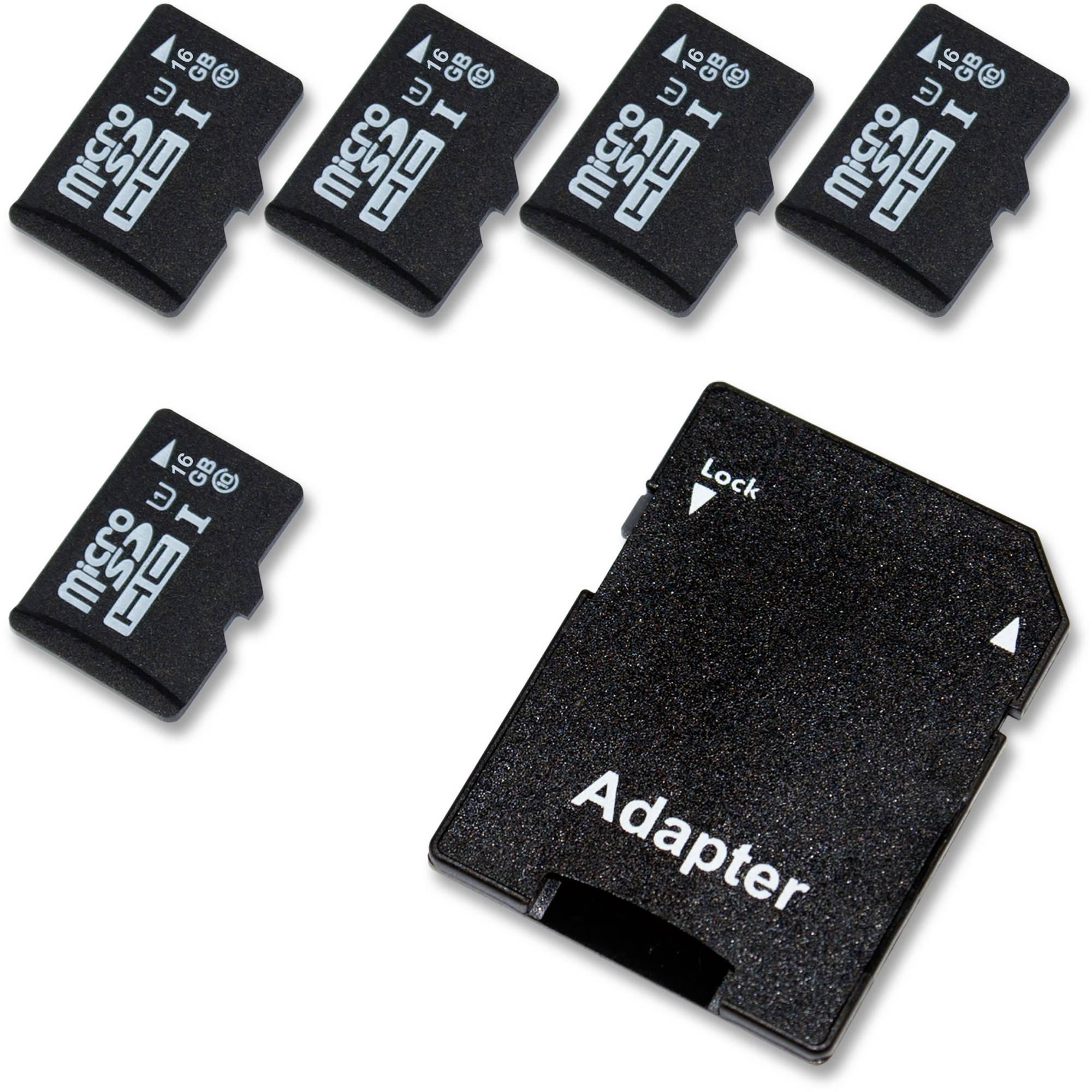 16GB GorillaFlash microSDHC Class 10 with Adapter 5-Pack