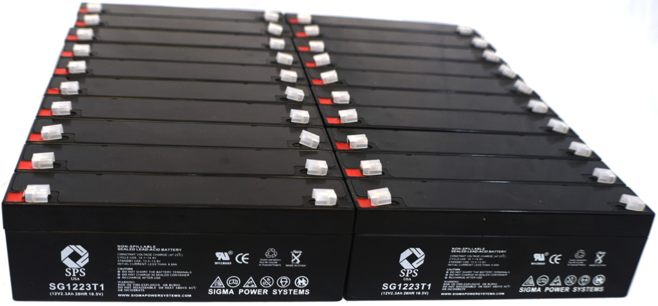 SPS Brand 12V 2.3 Ah Replacement Battery for Siemens 300 (20 pack) by