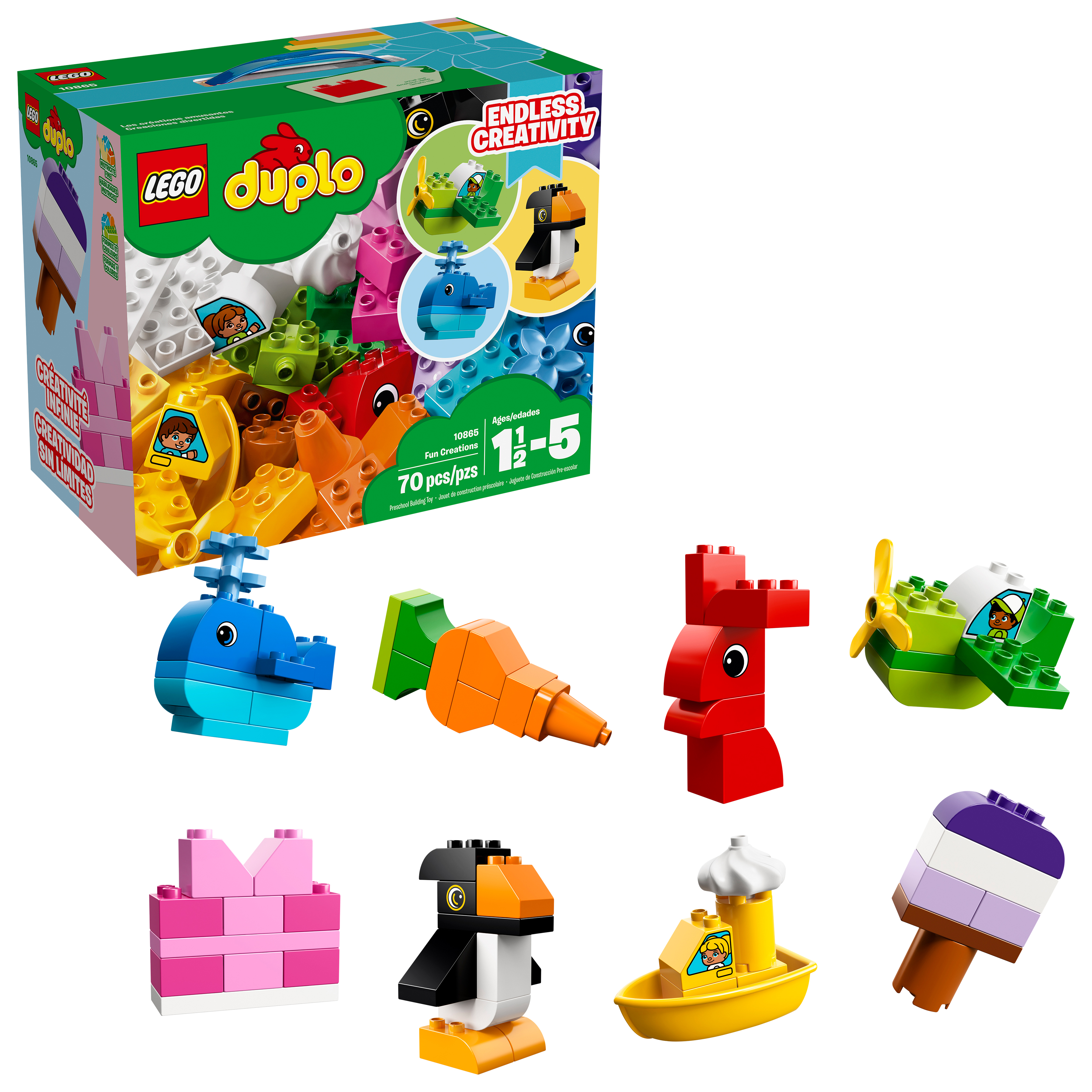 LEGO DUPLO My First Fun Creations 10865 (70 Pieces)