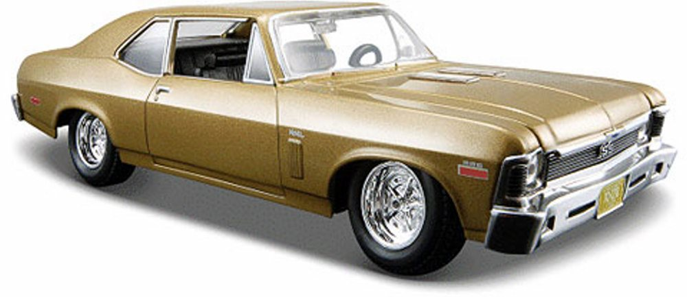 1970 Chevy Nova SS Hard Top, Metallic Gold Maisto 31262G 1 24 Scale Diecast Model Toy Car by Maisto