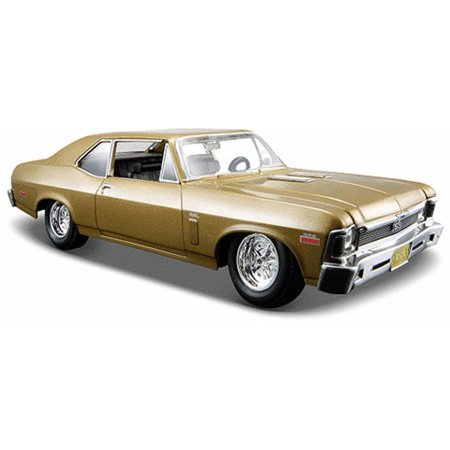 1970 Nova - 1970 Chevy Nova SS Hard Top, Metallic Gold - Maisto 31262G - 1/24 Scale Diecast Model Toy Car