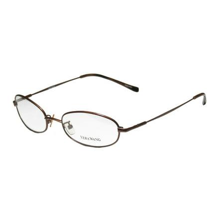 New Vera Wang V17 Womens/Ladies Designer Full-Rim Chocolate Ophthalmic Imported From Italy Frame Demo Lenses 48-17-135 Eyeglasses/Eyeglass (Wang Sunglasses)