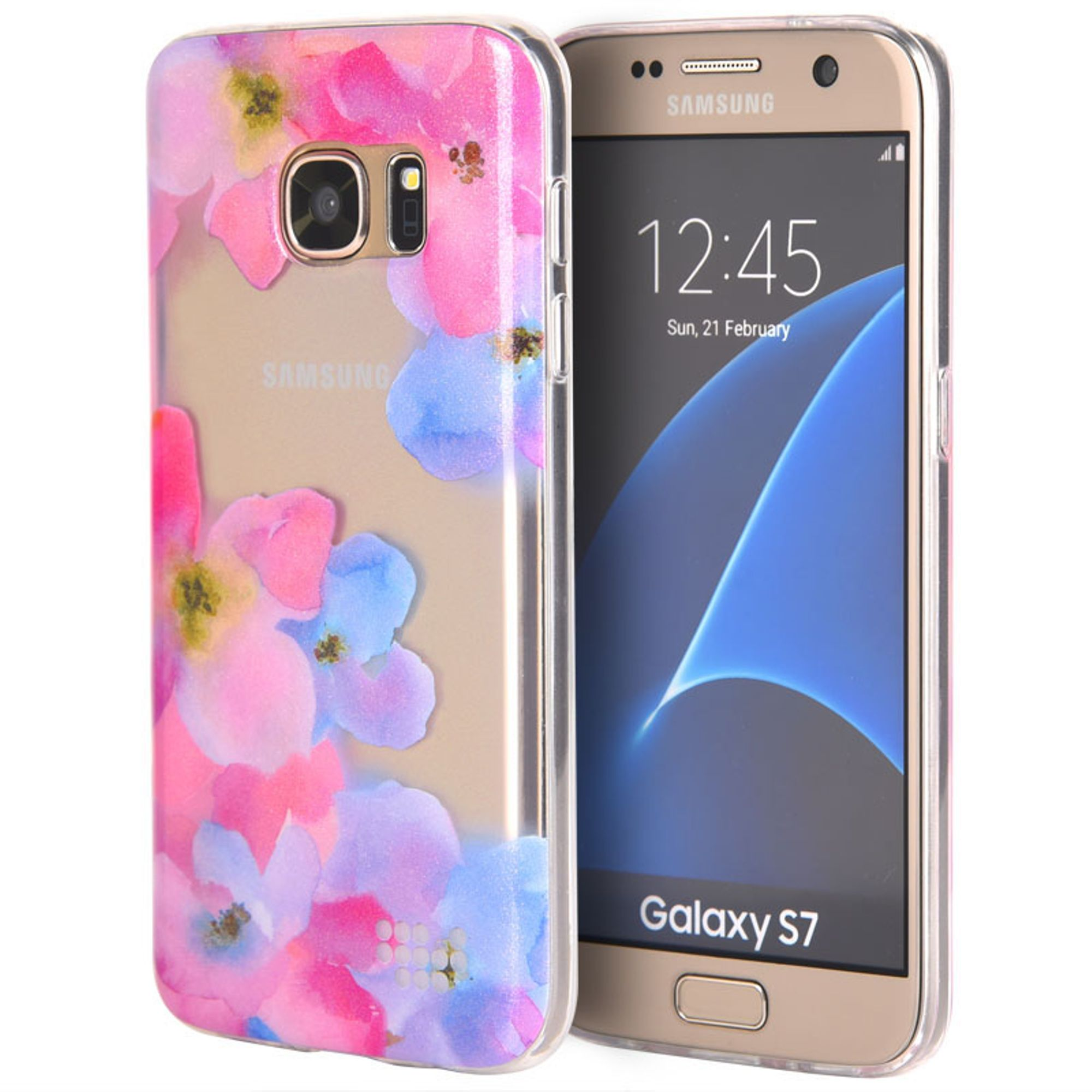 Insten Be Enchanted TPU IMD Rubber Skin Gel Back Shell Case For Samsung Galaxy S7 - Pink/Purple