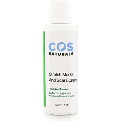 cos naturals anti stretch mark and scar cream natural organic treat & prevent body moisturizer with peptides vitamin c b e hyaluronic acid best for pregnancy 4