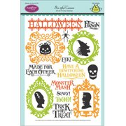 """JustRite Papercraft Clear Stamps 6""""X8""""-Boo-tiful Cameos"""