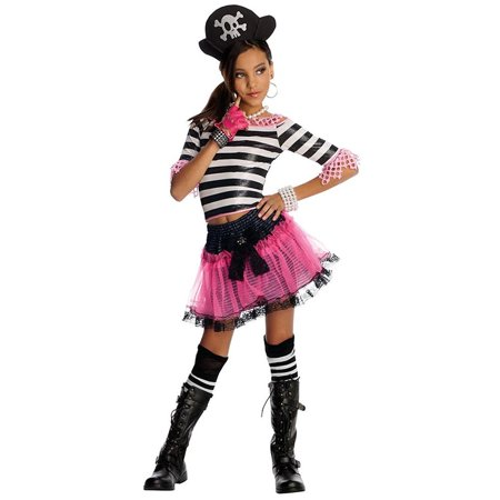 Sassy Pirate Treasure Girls size S 4/6 Drama Queens Costume Outfit Rubie's - Treasure Island Pirate Costume