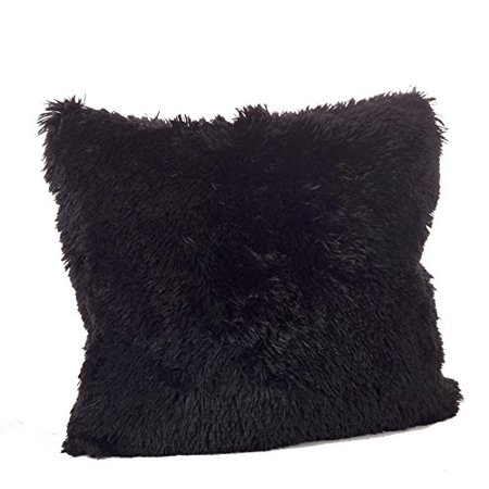 Fennco Styles Juneau Collection Classic Faux Fur Down Filled Throw Pillow - 18