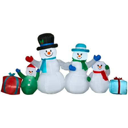 Airblown Inflatable Winter Snowman Collection Scene, 9' (Halloween Airblown Inflatables)