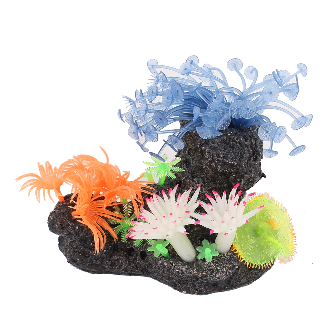 "Fish Tank Silicone Artificial Aquatic Coral Decoration 5.5"" High Multicolor"