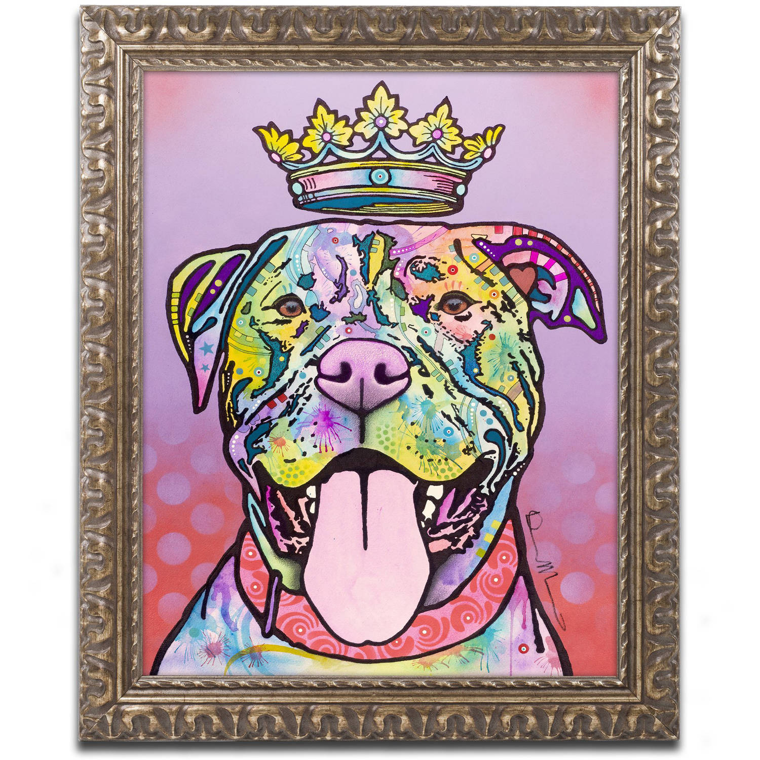 "Trademark Fine Art ""Imperial"" Canvas Art by Dean Russo, Gold Ornate Frame"