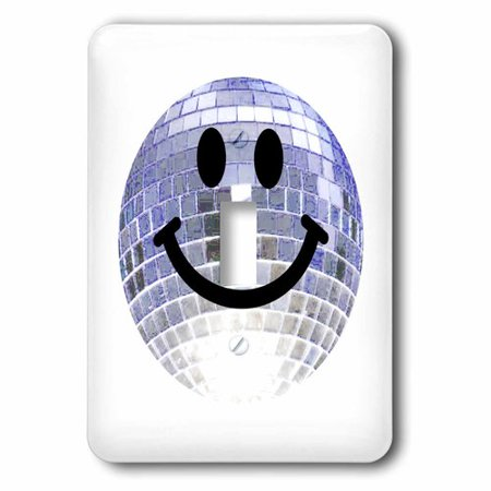 3dRose Disco ball smiley face - silver dance club theme smilie Happy party smilie - clubbing smile smiling, Single Toggle Switch](Dance Party Themes)