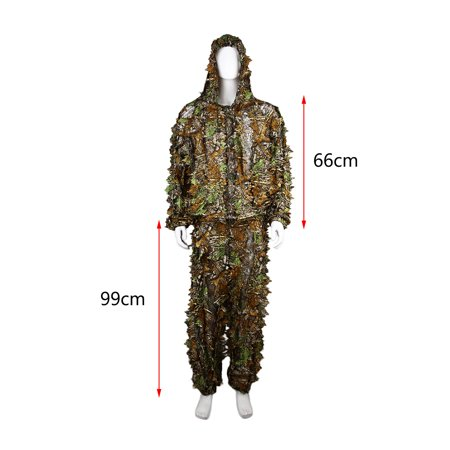 Utility Hunting Camo Camouflage Clothing Leafy Woodland Hunting Camo Jungle Suit Set 3D Leafy Ghillie Suit For Hunting