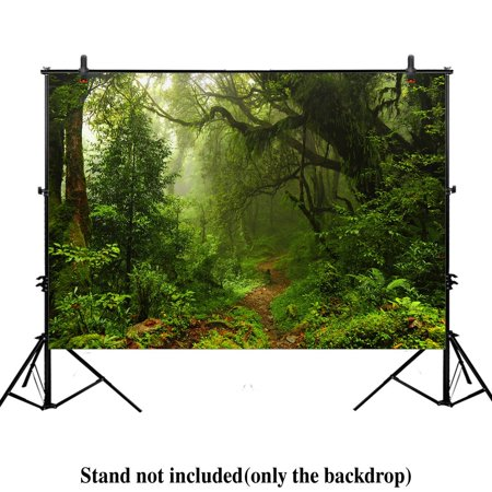 GreenDecor Polyster 7x5ft Subtropical rain forest Photography Background Backdrop green jungle nature landscape tropical photo Studio Prop Drops](Jungle Safari Backdrop)