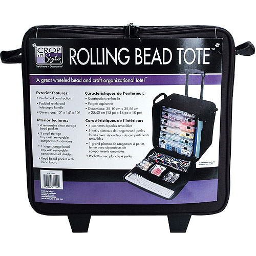 Rolling Bead Tote, Black