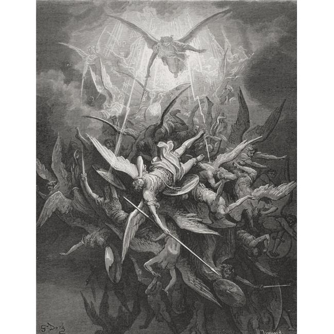 Posterazzi DPI1857086LARGE Illustration by Gustave Dore 1832-1883 French Artist & Illustrator for Paradise Lost by John Milton Book I Lines 44 Poster Print, Large - 26 x 32 - image 1 de 1