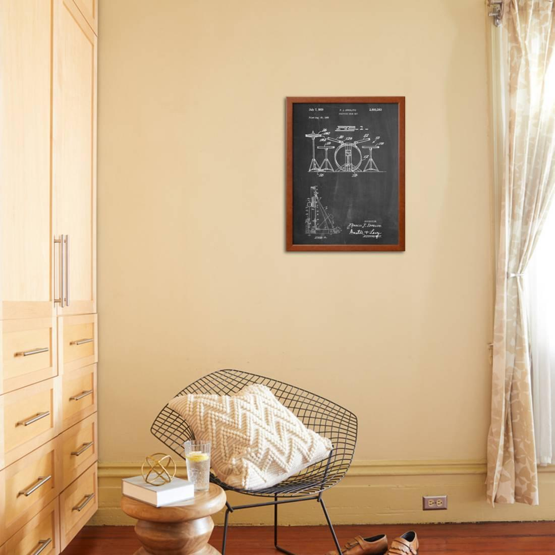 Frank Ippolito Practice Drum Set Patent Framed Print Wall Art By ...