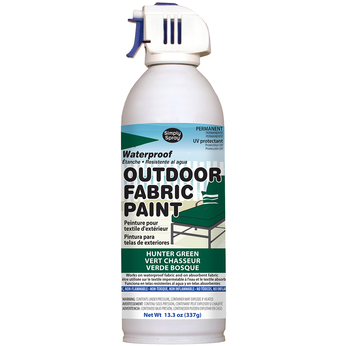 Outdoor Spray Fabric Paint 13.3Oz-Hunter Green