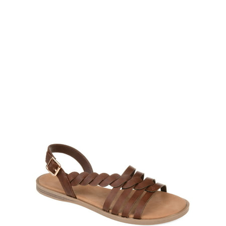 Brinley Co. Womens Braided Cushioned Sandal