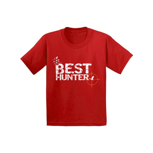 Awkward Styles Best Hunter Kids T Shirt Hunting Gifts for Kids Best Hunter Ever Shirt for Kids Hunting Lovers T-Shirt for Children Hunting Shirt for Girls Hunting Shirt for Boy Best Hunter Clothes