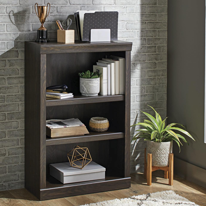 Better Homes Gardens Glendale 3 Shelf Bookcase Dark Oak Finish