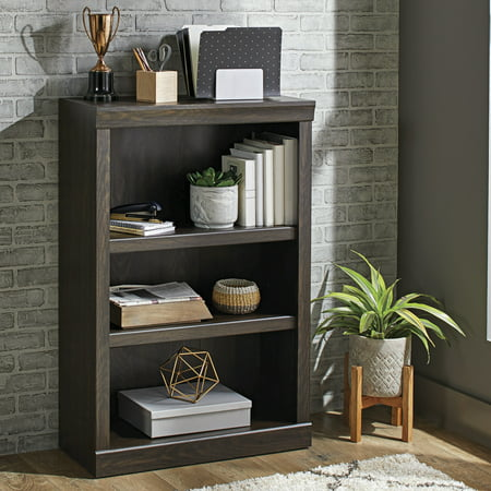 - Better Homes & Gardens Glendale 3 Shelf Bookcase, Dark Oak Finish