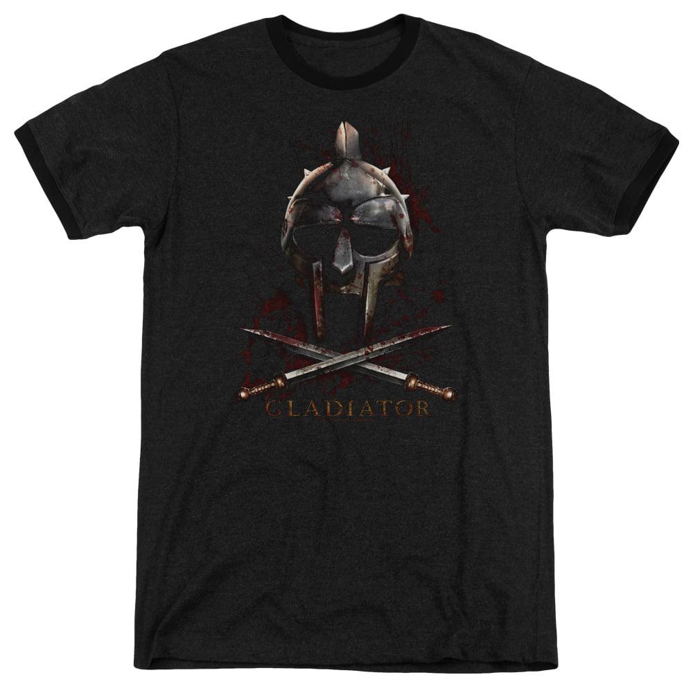 Gladiator Helmet Mens Adult Heather Ringer Shirt