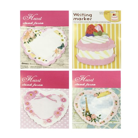 Wrapables® Sweet Heart Memo Sticky Notes (Set of 4)