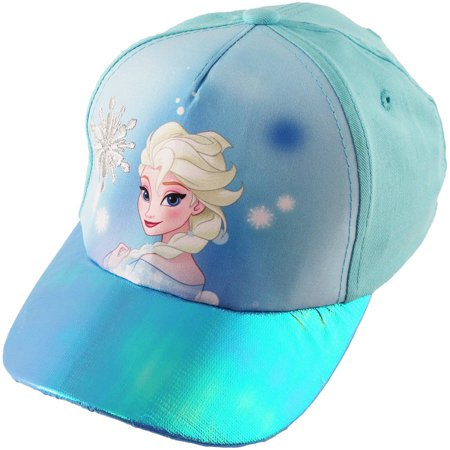 Little Girls Frozen Princess Elsa Cotton Baseball Cap, Ages - Princess Hats