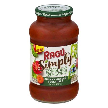 (3 pack) Ragu Simply Garden Vegetable Pasta Sauce, 24 oz