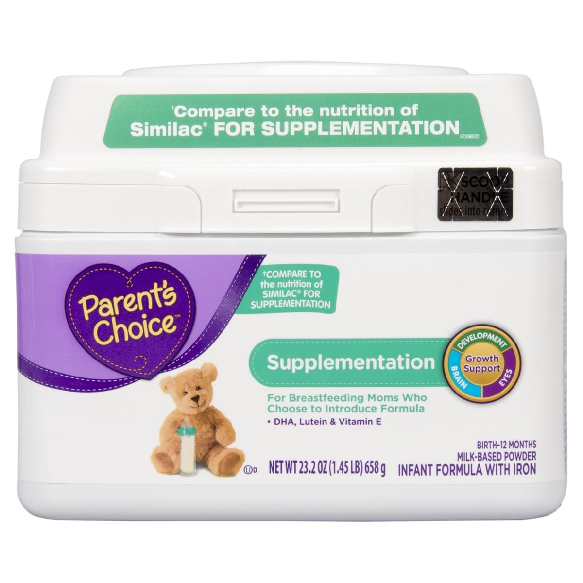 Parent's Choice Supplementation Infant Formula with iron, 23 oz