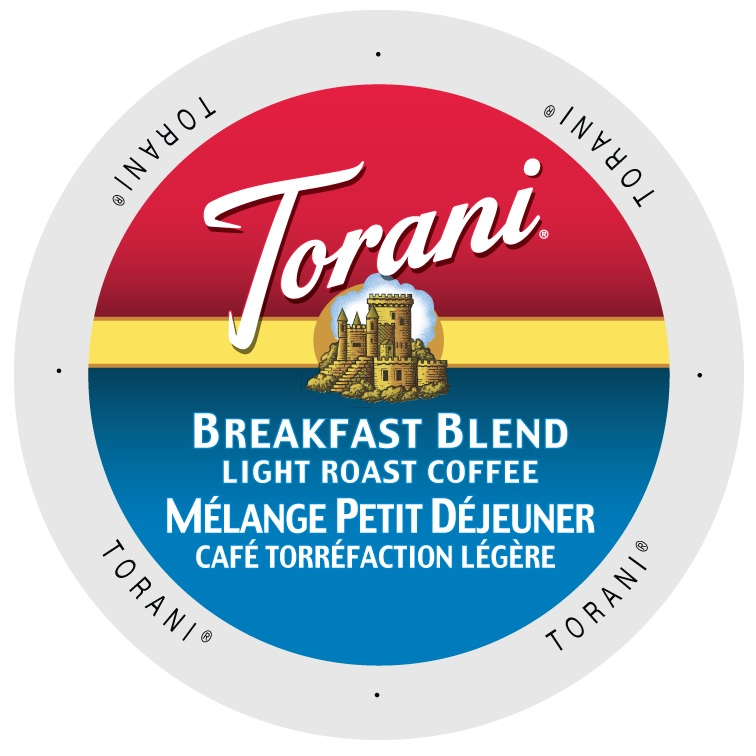 Torani Coffee Breakfast Blend, Single Serve Cup Portion Pack for Keurig K-Cup Brewers, 24 Count