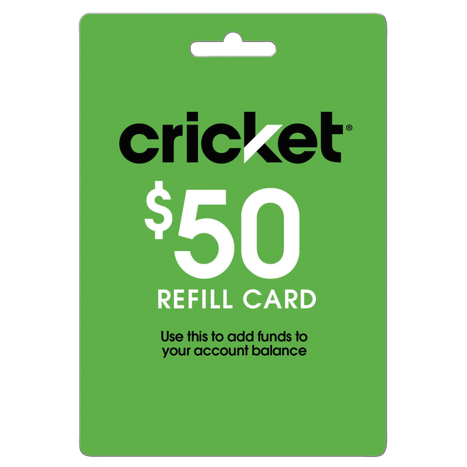 Cricket Refill $50 (Email Delivery)