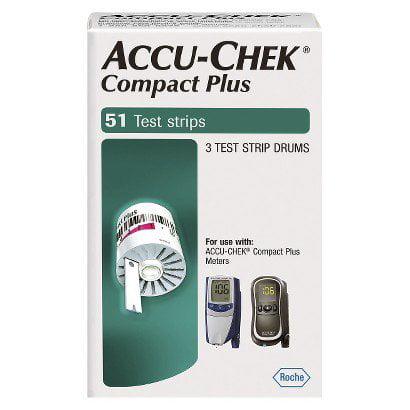 Test Strip, Bld Gluc Accu-Chekcompact+ Retail  (Units Per Case: 2448)