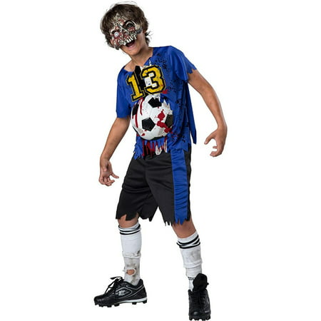 Zombie Goals Boys Child Dead Football Player Halloween Costume - Ladies Football Halloween Costume