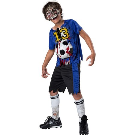 Zombie Goals Boys Child Dead Football Player Halloween Costume - Zombie Boy Halloween Costume