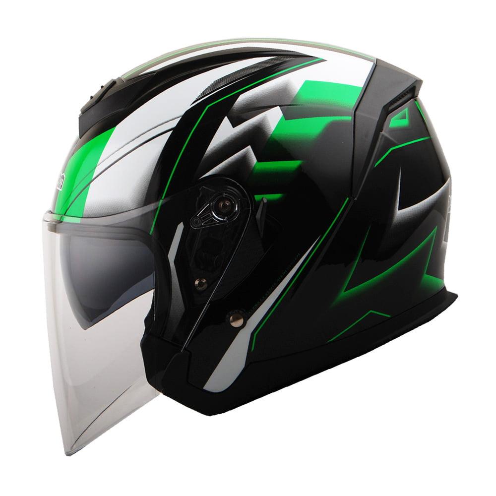 Size Medium Full Face Sun Visor Front Motorbike Helmet Scooter Motorycle Bike Racing Helmet For Mens Womens Kids Boys